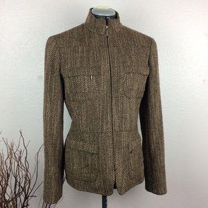 Lafayette 148 NY Wool Tweed Full Zip Blazer